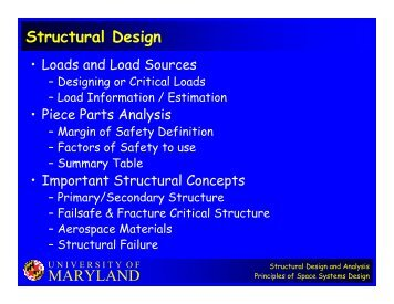 MARYLAND Structural Design
