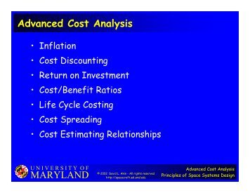 MARYLAND Advanced Cost Analysis