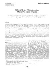 EXPOSE-E: An ESA Astrobiology Mission 1.5 Years in Space