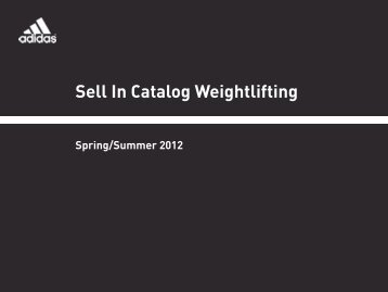 Sell In Catalog Weightlifting