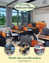 Flexible desk and table solutions