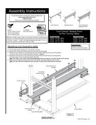 Flex Training Table Cord Channel & Modesty Panel