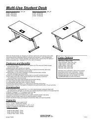 Multi-Use Student Desks - 67066-67068 - Spectrum Industries, Inc.
