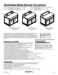 Overbridge Media Director V2 Lecterns - Spectrum Industries, Inc.