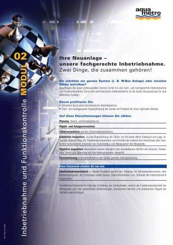 Ihre Neuanlage – unsere fachgerechte ... - Aquametro AG