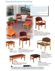 Tranquility Reception Furniture Product Information