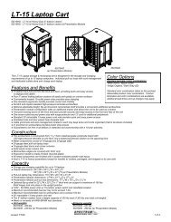 LT-15 Laptop Cart - Spectrum Industries, Inc.