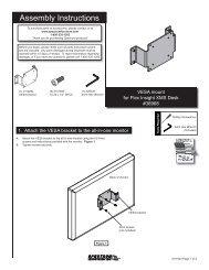Assembly Instructions Assembly Instructions