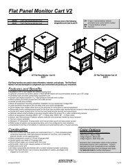 Flat Panel Monitor Cart V2 Options - Spectrum Industries, Inc.