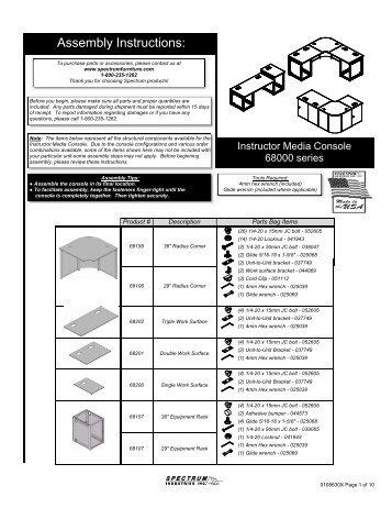 Assembly Instructions: Assembly Instructions: