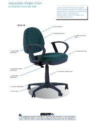 Adjustable Height Chair Market Sheet
