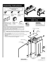 Assembly Instructions: e-FPM Desks