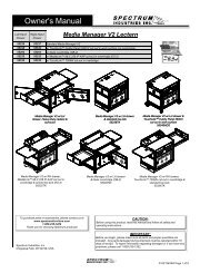 Owner's Manual Owner's Manual - Spectrum Industries, Inc.