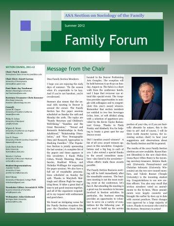 Family Forum - School of Public Health - University of Maryland