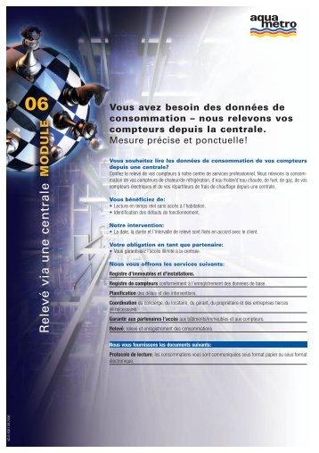 Vous avez besoin des données de consommation - Aquametro AG