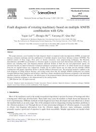 Fault diagnosis of rotating machinery based on multiple ANFIS ...