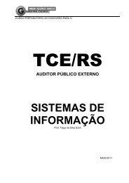 auditor público externo sistemas de informação