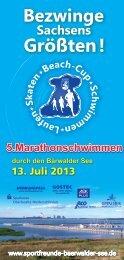 Flyer_Marathonschwimmen_2013 - Sportfreunde Bärwalder See eV