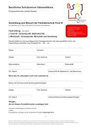 Berufliches Schulzentrum Odenwaldkreis Anmeldung zum Besuch ...