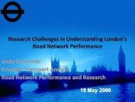 Research Challenges in Understanding London's Road ... - standard