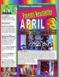 April 2013 - St. Anthony Elementary School - Lester B. Pearson ...