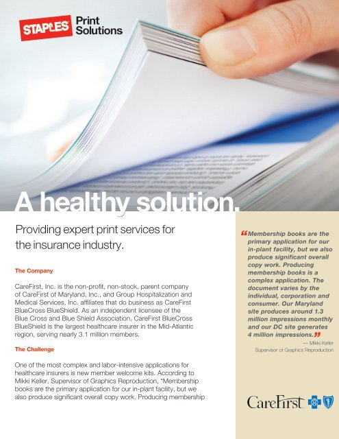 A healthy solution  - Staples Advantage