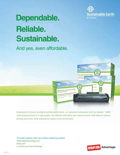 Dependable  Reliable  Sustainable  - Staples Advantage