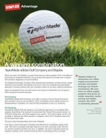 Case Studies - TaylorMade-adidas - Staples Advantage Newsroom