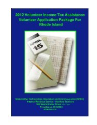 Volunteer Income Tax Assistance Volunteer Application ... - STATES