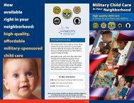 Military Child Care in Your Neighborhood - Travis FSS