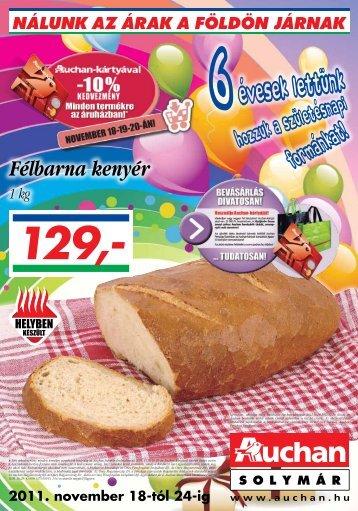 Félbarna kenyér - Auchan