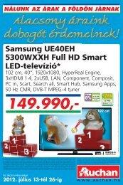 Samsung UE40EH 5300WXXH Full HD Smart LED-televízió* - Auchan
