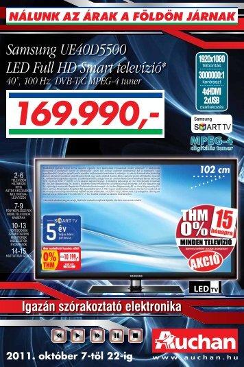 Samsung UE40D5500 LED Full HD Smart televízió* - Auchan