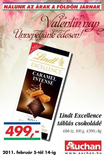 Lindt Excellence táblás csokoládé - Auchan