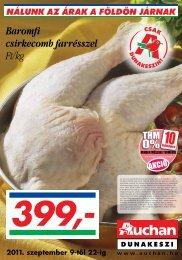 Baromfi csirkecomb farrésszel Ft/kg - Auchan