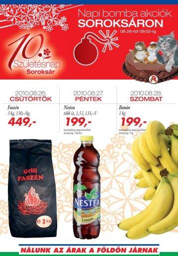 Napi bomba akciók SOROKSÁRON - Auchan