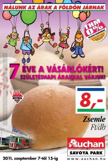 8,- Zsemle Ft/db - Auchan