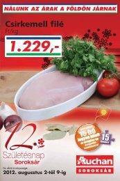nálunk az árak a földön járnak - Auchan