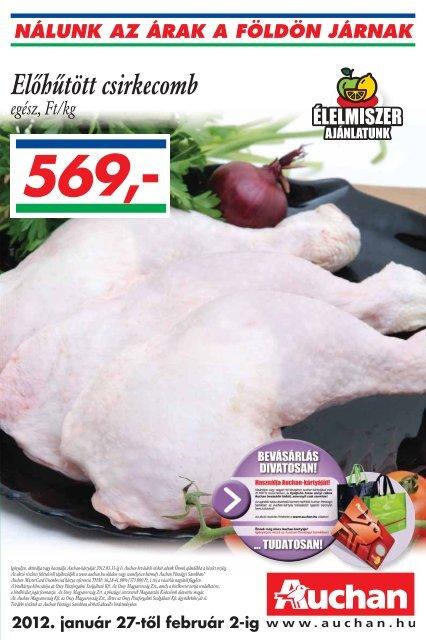 Elôhûtött csirkecomb - Auchan