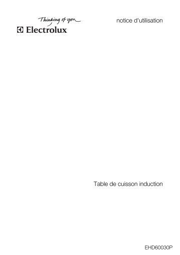 notice d'utilisation Table de cuisson induction