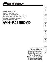 AVH-P4100DVD
