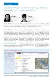 Qualitative Methoden in der User-Forschung − Plädoyer ... - Zeix AG