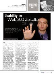 Usability im Web-2.0-Zeitalter - Zeix AG