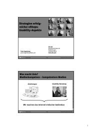 Strategien erfolg- reicher eShops: Usability-Aspekte - Zeix AG
