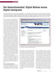 Der Generationentest: Digital Natives versus Digital ... - Zeix AG