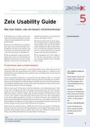Zeix Usability Guide 5 - Zeix AG