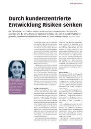 Durch kundenzentrierte Entwicklung Risiken senken - Zeix AG