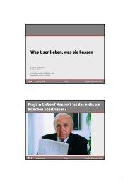 Was User lieben, was sie hassen - Zeix AG