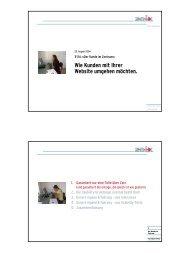 Wie Kunden mit Ihrer Website umgehen möchten. - Zeix AG