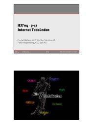 Internet Todsünden - Zeix AG